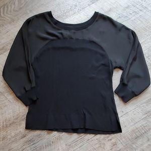 Black Silky Top Sweater